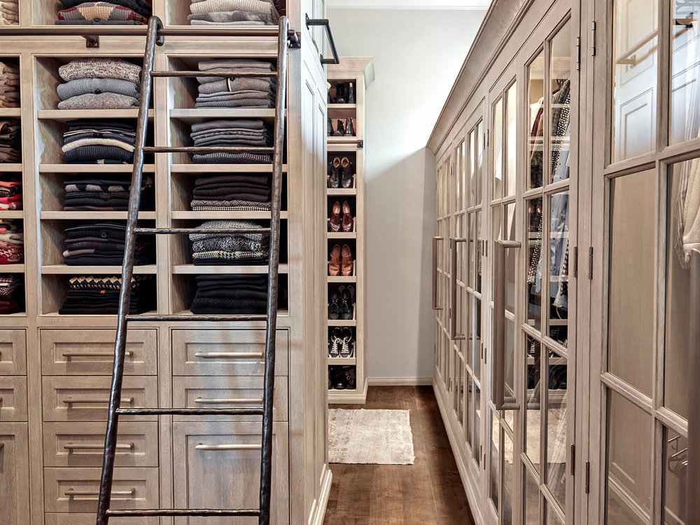 ... Large Walk In Closet With Ladder Formal Transitional  ...