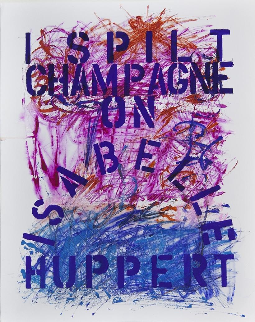 I Spilt Champagne on Isabelle Huppert