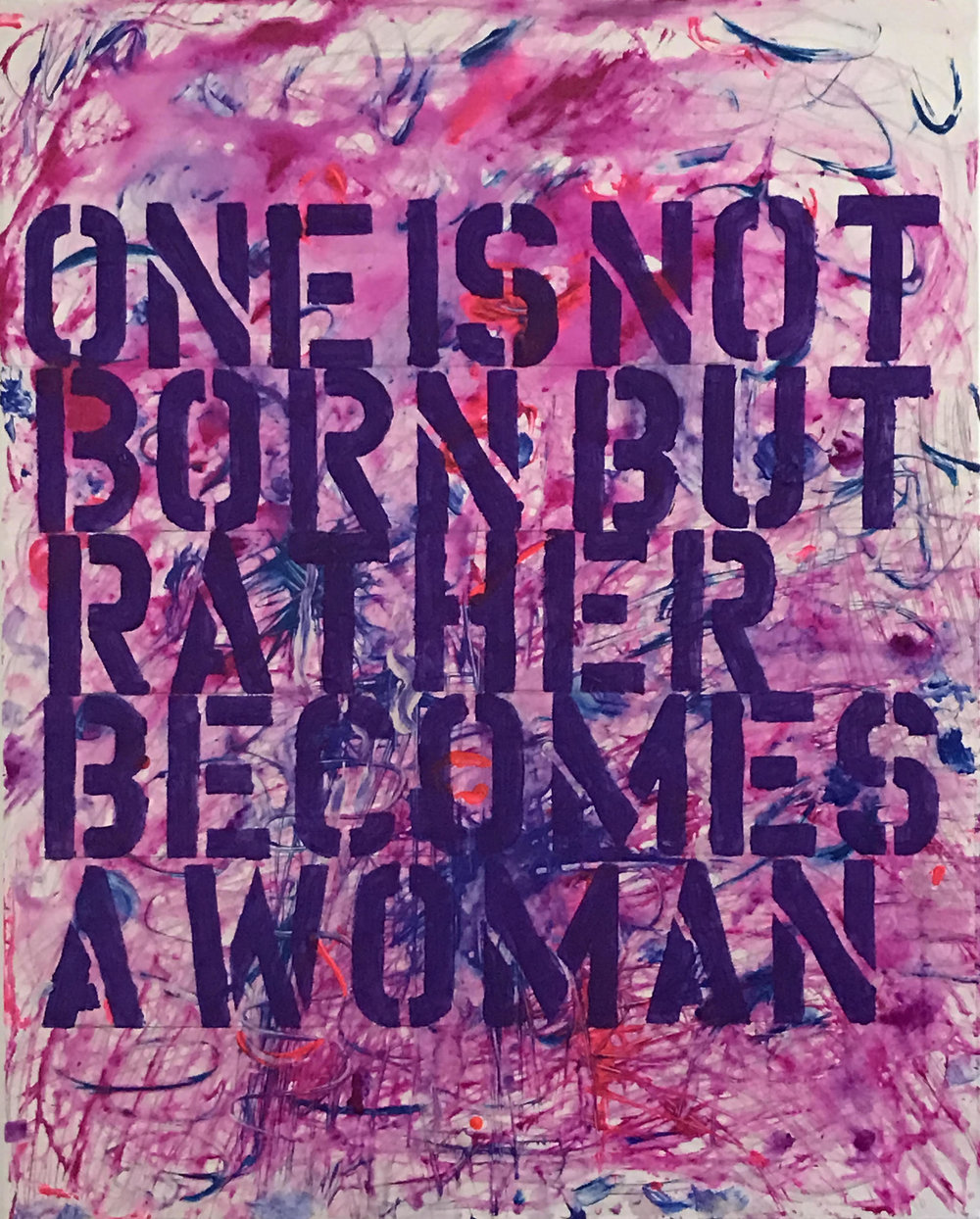 One is not Born, canvas.jpg