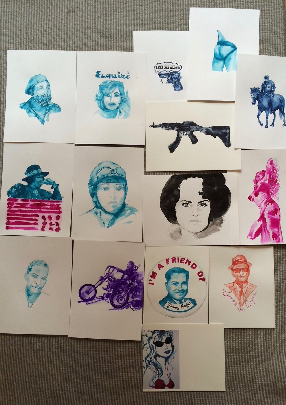 Wilder West drawings selection