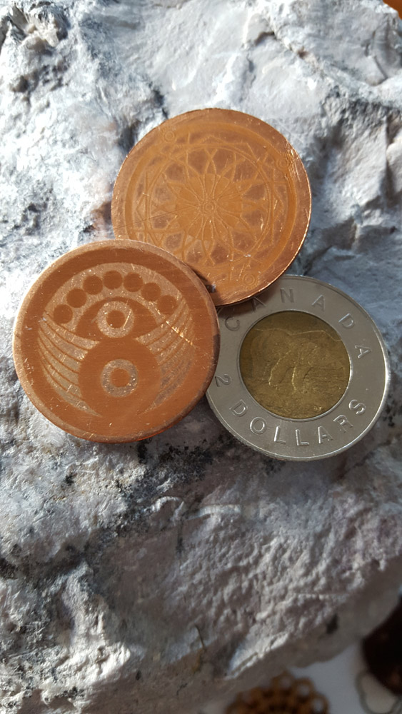 Gaian coins with Toonie