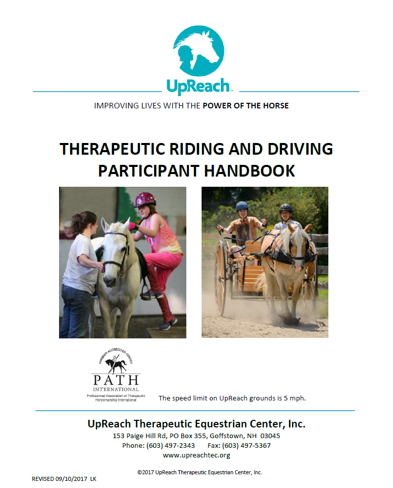 Handbook    Everything you need to know including eligibility, discharge guidelines, payment, makeup policies, and more.