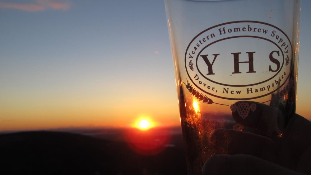 The ultimate cover photo for our former home-brew supply store.  This is a sunset on top of Cadillac Mountain in Acadia National Park.