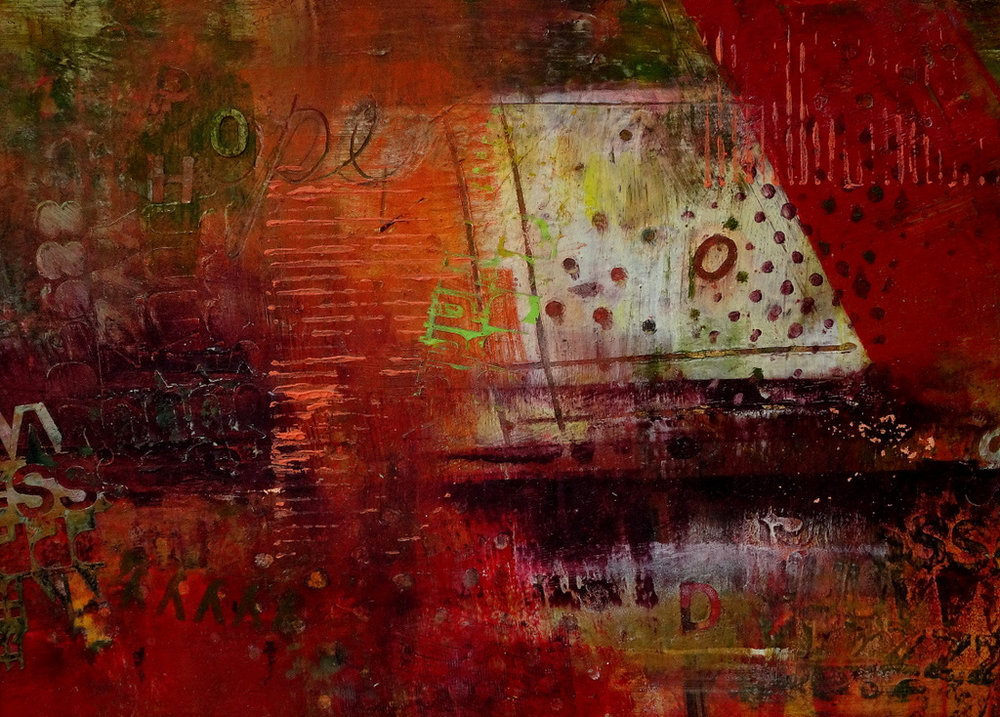 """""""GHOST SHIP"""",  Oil/Wax on Paper,  5x7"""",  $275"""