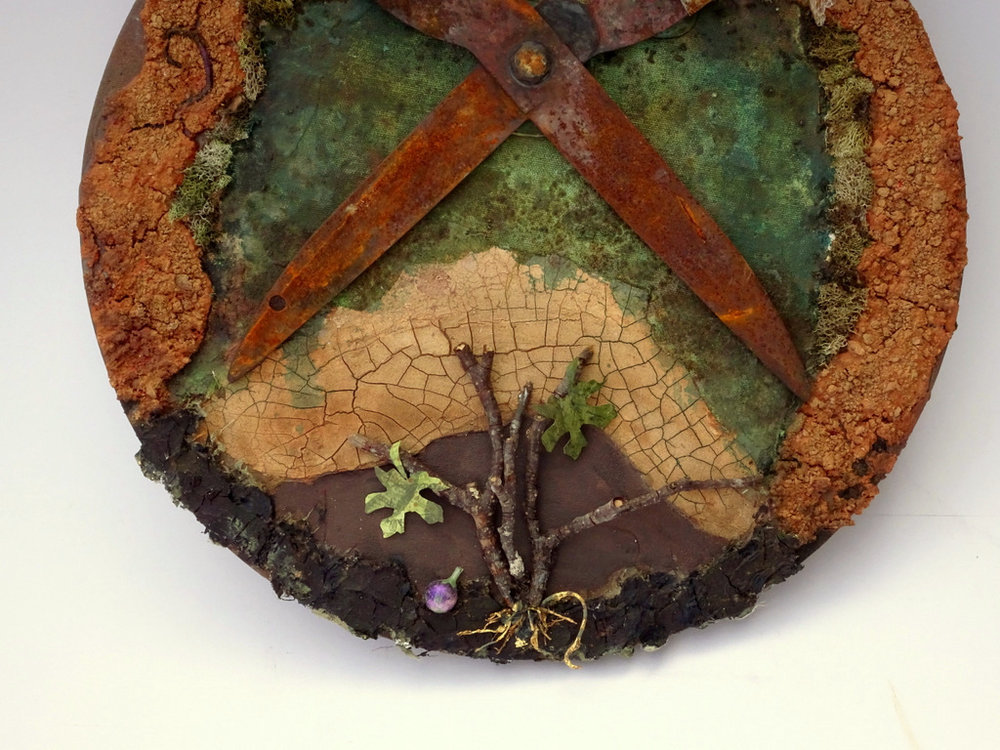 """Detail of """"LET THE FIG TREE LIVE"""""""