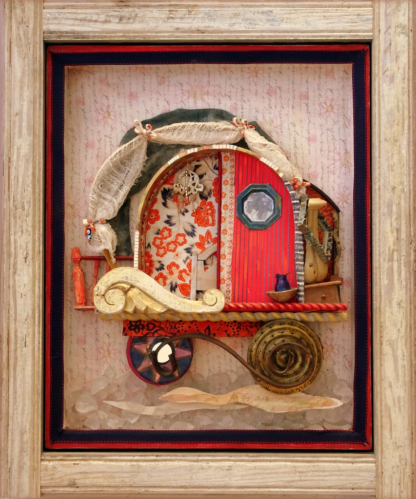 """THE PARSONAGE CARAVAN"",  Mixed Media Wall Piece,  20x24"",  Private Collection"