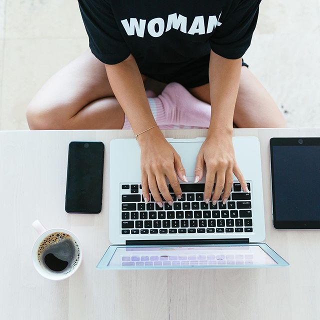 In my #womantee I work | available now @awomclub