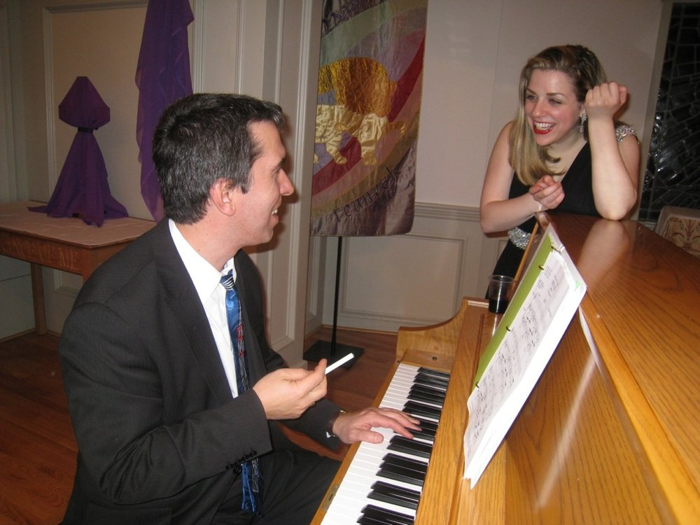 With pianist/conductor, Eugene Sirotkine