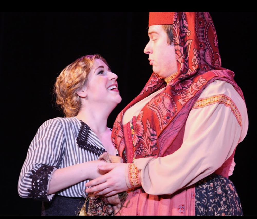 Photo credit: Eugenia Ames  Mannes Opera's  Mavra   With Christopher Colmenero