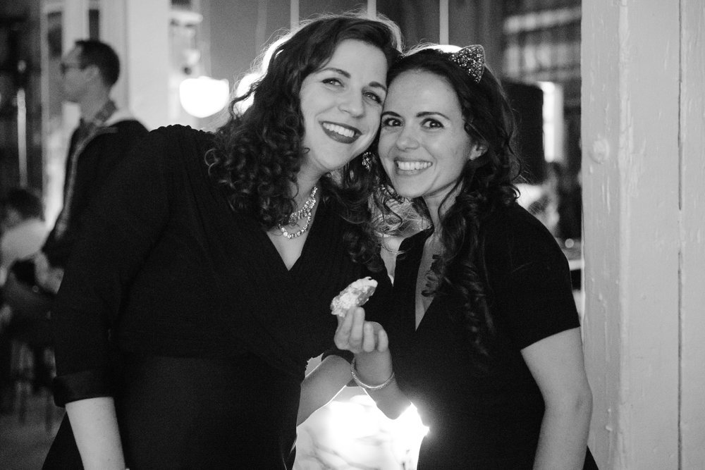 Liana with Laetitia Ruccolo, pianist and musical director of Bare Opera