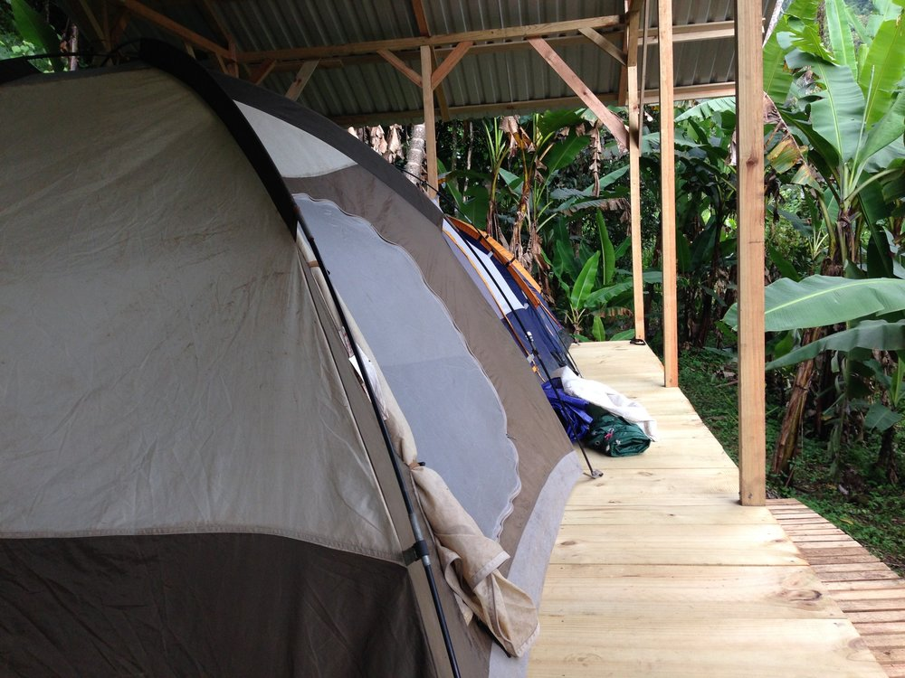 2 TENTS ON PLATFORM PAVILION #2