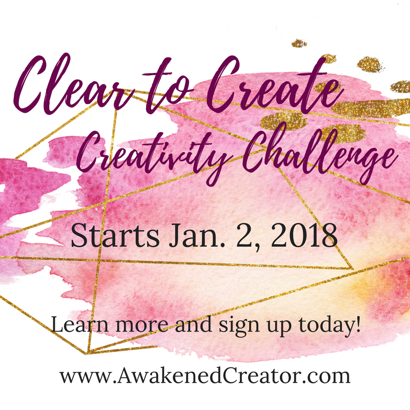 Clear to Create declutter creativity challenge