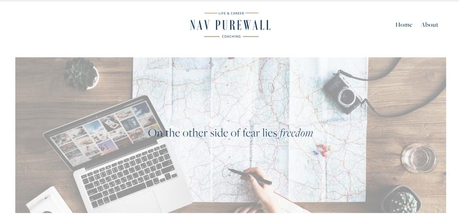 life coach website design