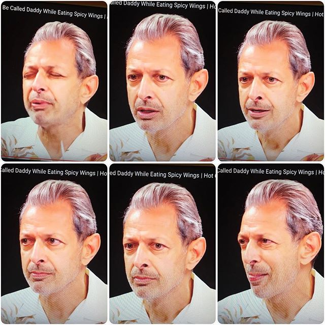 Find a husband who makes these faces while talking about you, his wife. #jeffgoldblum #relationshipgoals #lifegoals @jeffgoldblum talking about his wife @emiliegoldblum on #hotones is giving me life tonight.