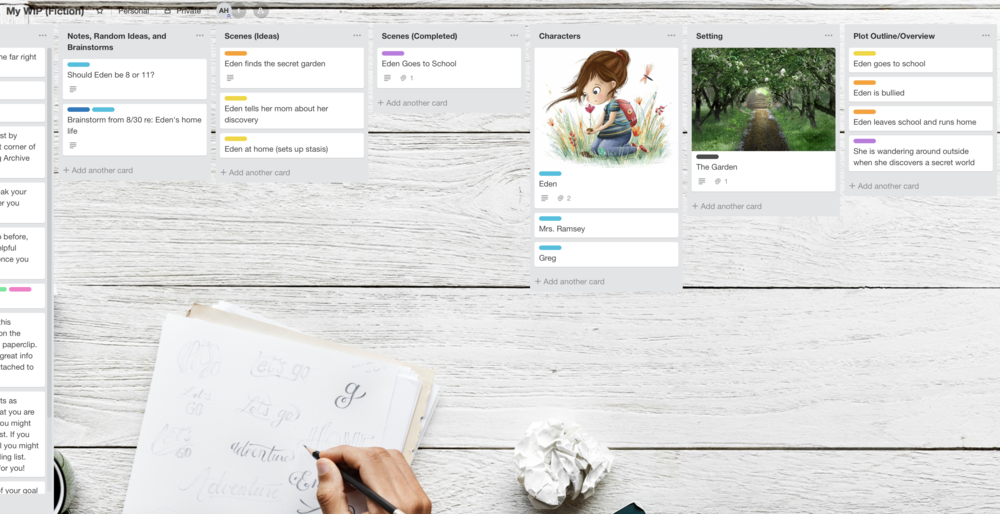 Free Trello Board for Your Writing