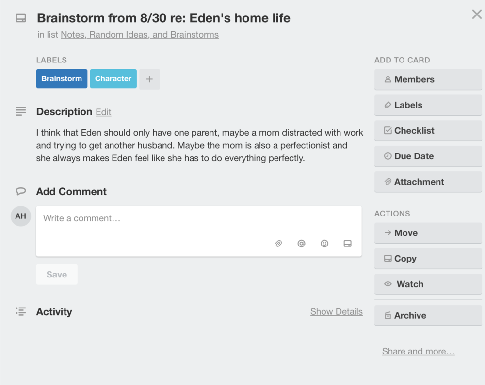 Free Trello Board for Planning Your Writing
