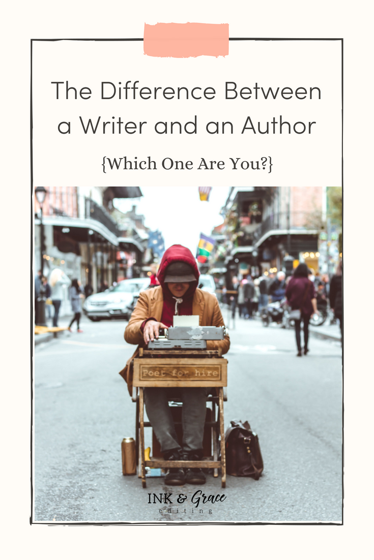 The Difference Between a Writer and an Author