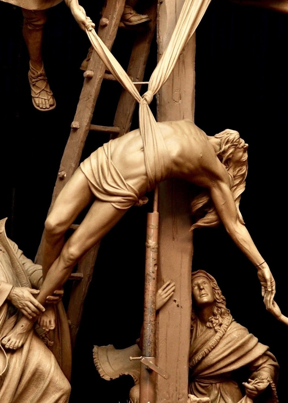 "Jesus is takin down from the cross  ""Station 13"""