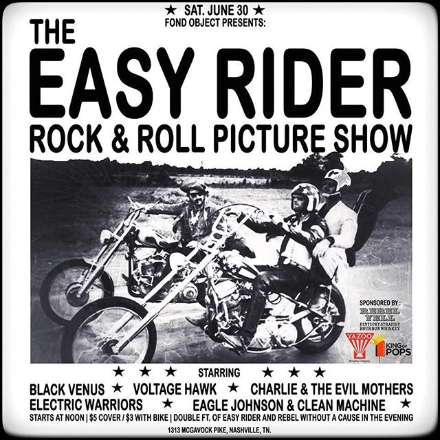 not sure what's better than hanging out with a bunch of our buddies at a record store, playing rock 'n' roll and watching classic cinema on motorcycles ⚡️🏍⚡️ . #rocknroll #bestbuds #nashville #livemusic #recordstore #motorcycle #movienight  @voltagehawk @blackvenusmusic @cleanmachinemusic @electricwarriorsofficial @charlie_and_the_evil_mothers #sendit #sendit #sendit