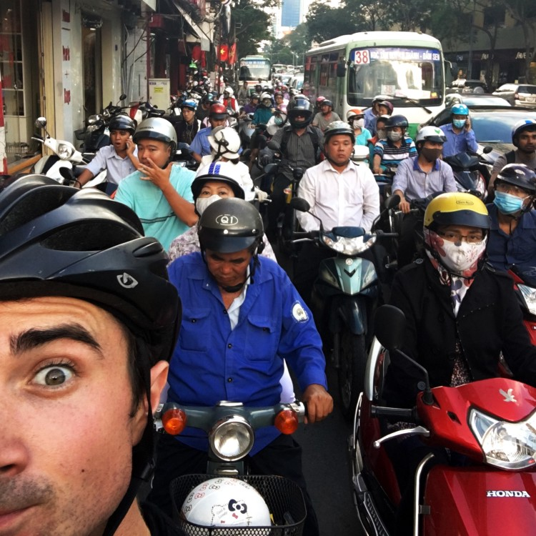 Craig biking the Ho Chi Minh Highway in 2015.