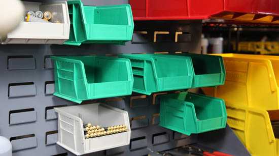 Hanging/Stacking parts bins - Make all project work more organized.