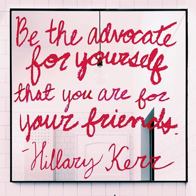The wise words of @hillarykerr - this applies to so much in life. Speak to yourself as you would to your best friend. Boost yourself like you would support your bff. Spend time with yourself, like you hang out with your girl friends. Why do we find it so easy to see how beautiful, confident, and shining our bffs are, but can't always do the same for ourselves? Let's focus on that. Tag a bff (or yourself 😉) that needs this message. 🌹#Repost @theladygang