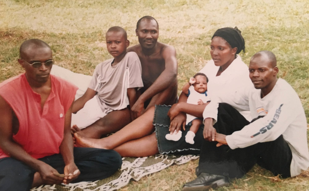 Bolingo and other Congolese refugees in Uganda.