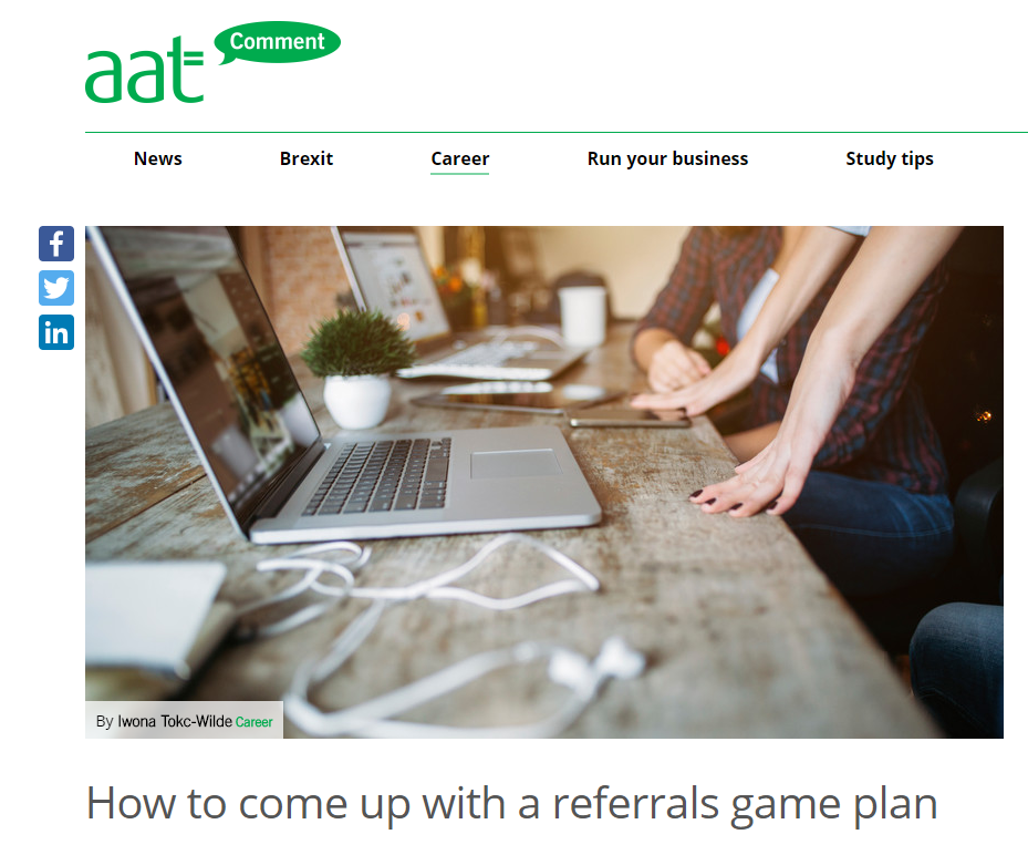 Referrals Strategy - AAT - Charlotte shares top tips to get referrals with AAT.