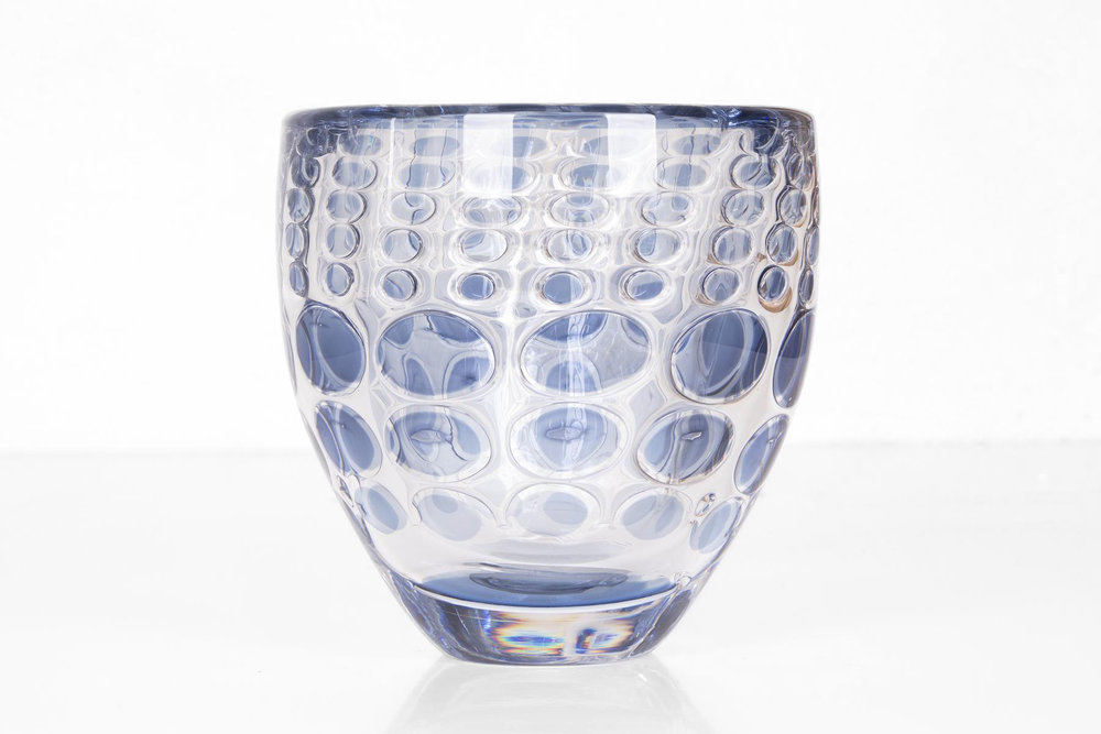 Ingeborg Lundin for  Orrefors ,  Ariel Vase  (1962).  Image courtesy of  Pamono.com