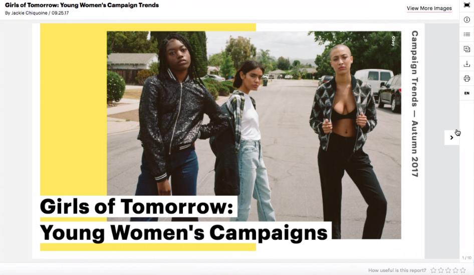 Girl of Tomorrow campaign