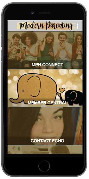 MPH App Home Screen