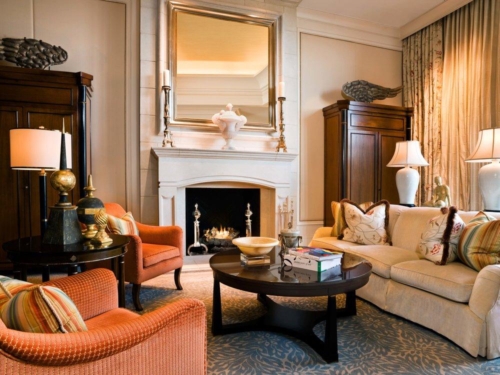 Stock Photo: Astor Court Fireplace - St. Regis Atlanta - Atlanta, United States