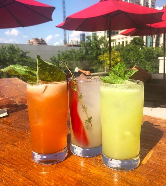 Instagram: Swipe Right Vodka Collins variations (Strawberry basil, red pepper thyme, & kiwi coconut) - Gypsy Kitchen - Atlanta, United States