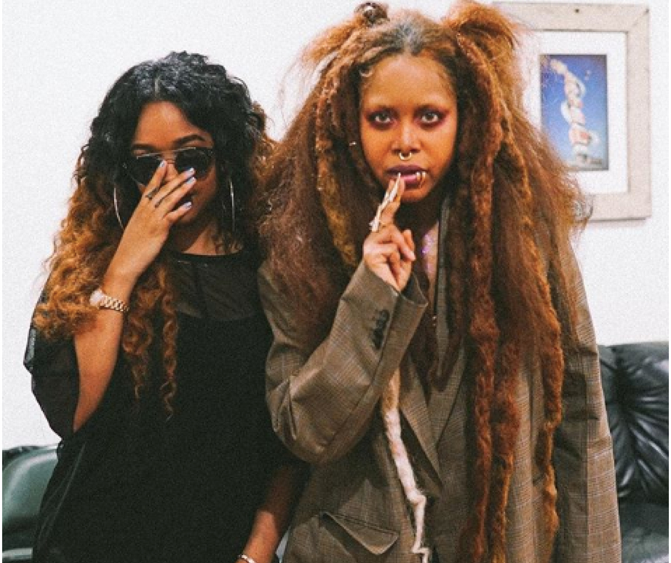 Instagram:  H.E.R.  and Erykah Badu