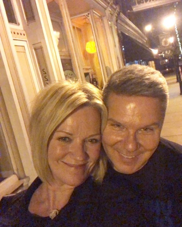 Spontaneous, no makeup, let's-go-out-to-dinner, kind of night. . These are the best. ❤️ . #timandlinda #marriage