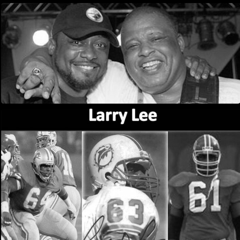 Larry Lee - 45 combined years as a student-athlete, professional football player,Executive and contributor in the National Football League.  Mr. Lee spent 8 years as a Guard in the NFL with the Lions, Dolphins and  Broncos respectively.Upon the completion of his playing career, Mr. Lee spent 10 years as Vice President of the Detroit  Lions.He currently is the architect and guitar player in his group called Larry Lee and the