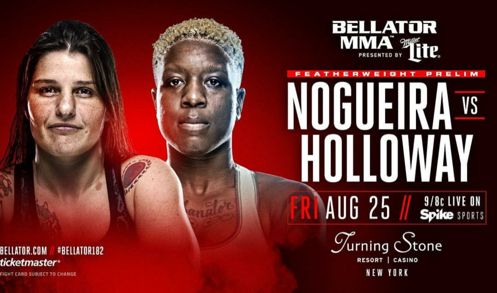August 25, 2017  #WEREHERE #Bellator182  #VeronaNY #SheAlwaysLookingForAFight  #GabanatorHolloway