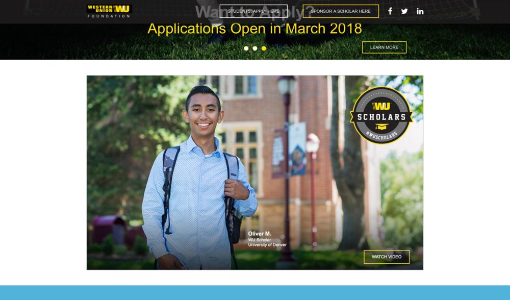 2017 WU Scholarship recipient
