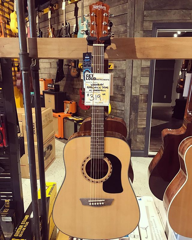 The Washburn AD5K Apprentice Series! Great value acoustics that come with hardshell cases!  AD5K Dreadnought - $319.99 + tax AD5K Concert - $279.99 + tax