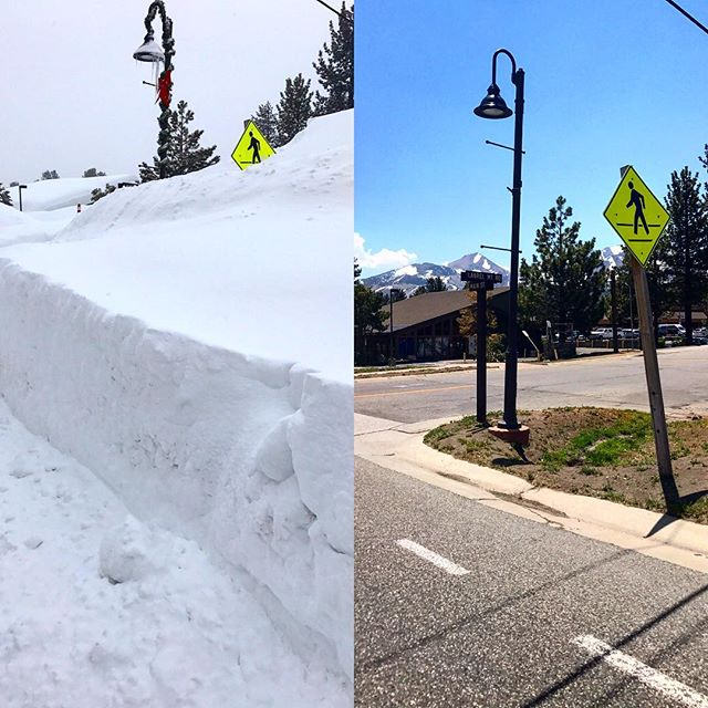 January vs June 2017! #snowyear #mammothstories #visitmammoth #snowpacolypse2017 #magicofsnow