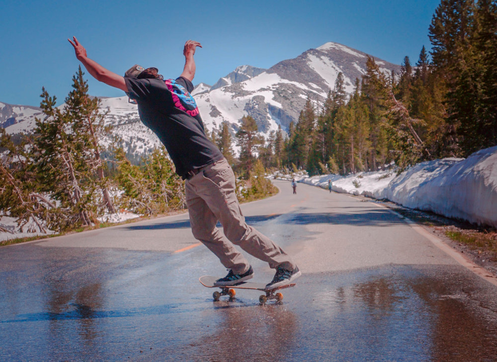 Skating Tioga Pass