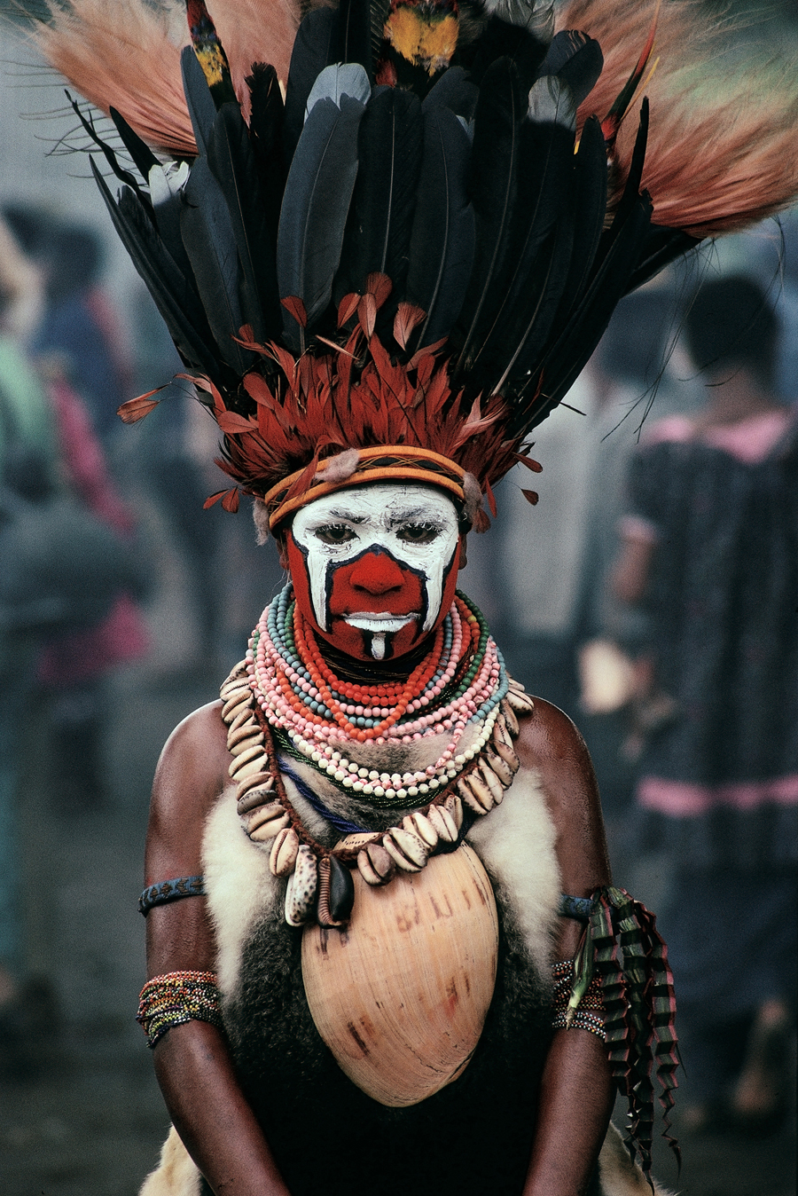 "Cary Wolinsky  New Guinea Dancer, Mt. Hagan, Papua New Guinea  Archival inkjet print 27 x 18"" CW25"
