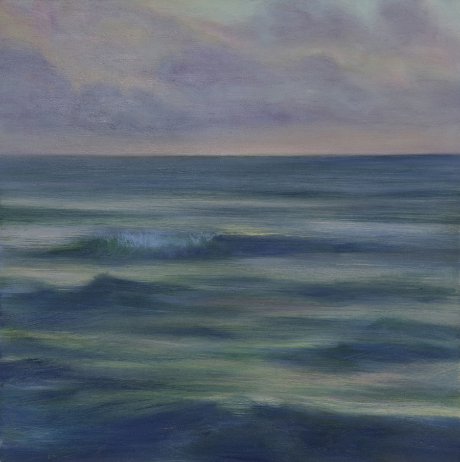 "Jim Schantz  Atlantic Dawn  Oil on canvas 20 x 20"" JMS713"