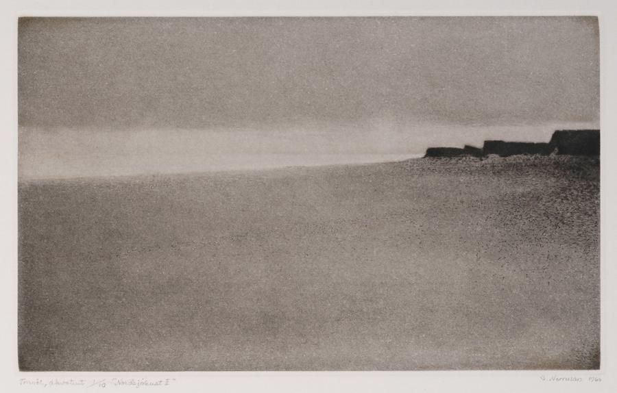 """Gunnar Norrman  Nordsjokust II (North Sea Coast II)  Drypoint and aquatint, 1/10 5.5 x 9.25"""" 176"""