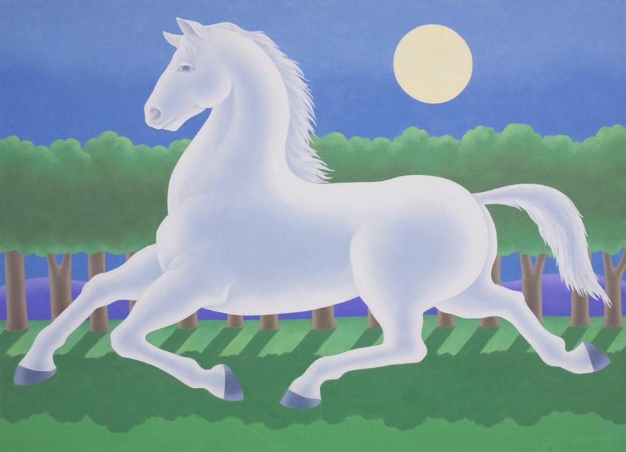 "Gerald Garston  Pale Horse  Oil on canvas 48 x 66"" GP860"