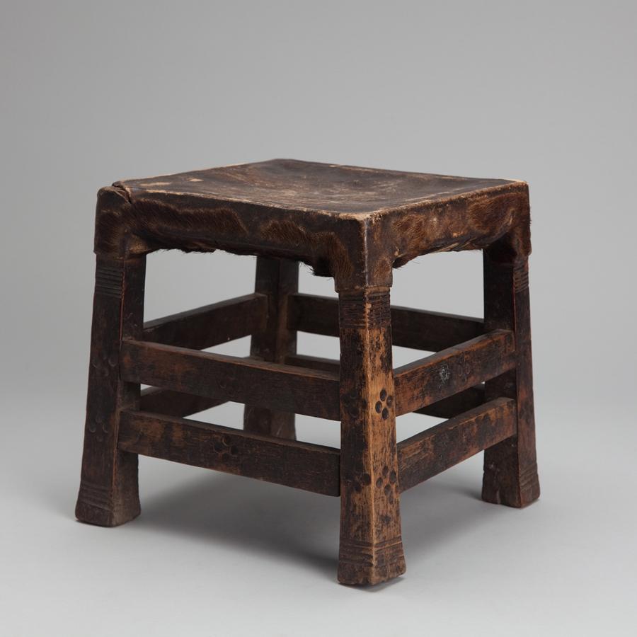 """Southern African  Kapula, Lozi sitting stool  Wood 9 x 8.75 x 9.5"""" SA239"""