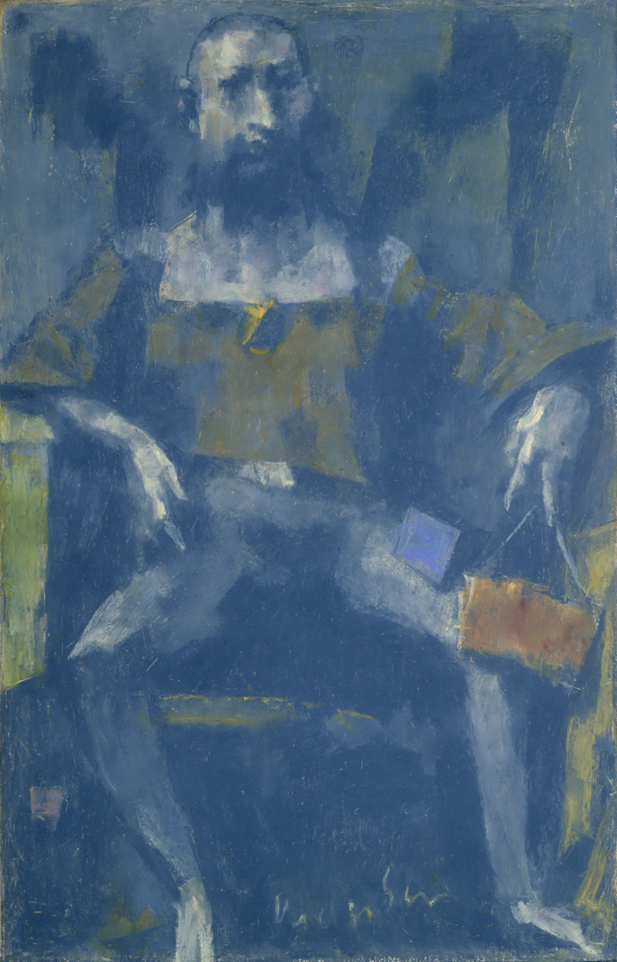 "David Aronson  Elijah  Oil pastel 15.75 x 10"" AP216"