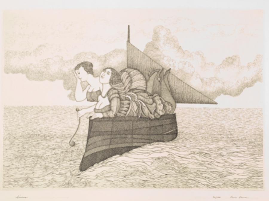 "Zevi Blum  Sirens  Etching, 20/100 11 x 15.5"" ZB11"