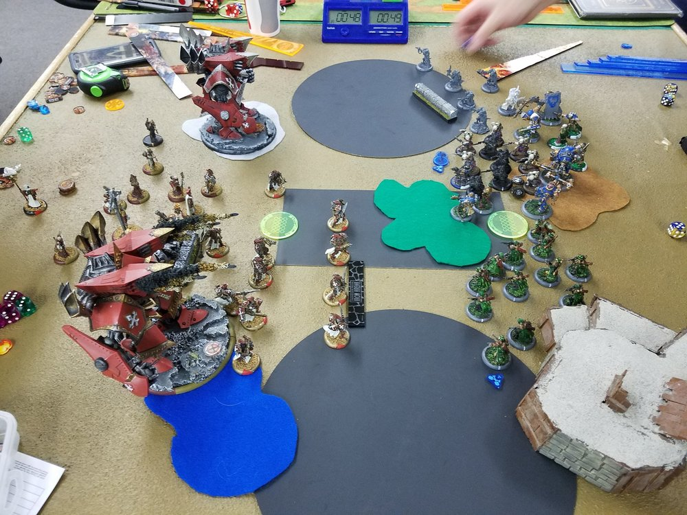 Picture taken right before the silver Judicator utterly exploded.