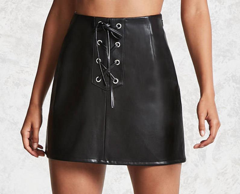 black mini skirt from forever 21.png